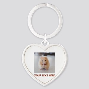 Hamster Personalized Heart Keychain