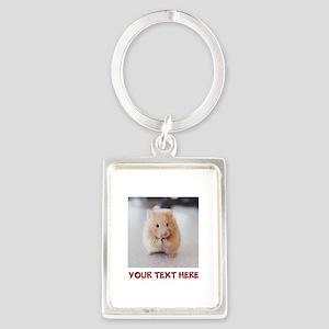 Hamster Personalized Portrait Keychain