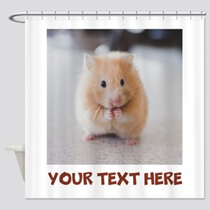 Hamster Personalized Shower Curtain