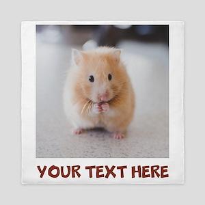 Hamster Personalized Queen Duvet