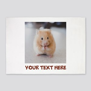 Hamster Personalized 5'x7'Area Rug