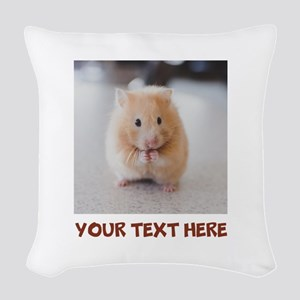 Hamster Personalized Woven Throw Pillow