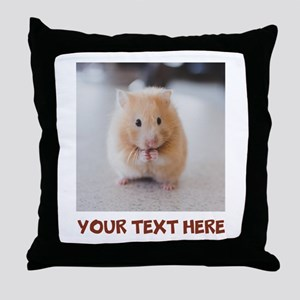 Hamster Personalized Throw Pillow