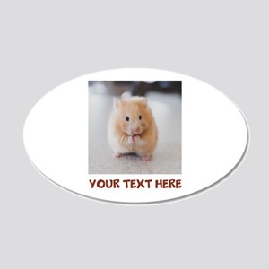 Hamster Personalized 20x12 Oval Wall Decal