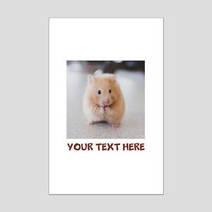 Hamster Personalized Mini Poster Print