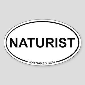 Oval Sticker - Naturist