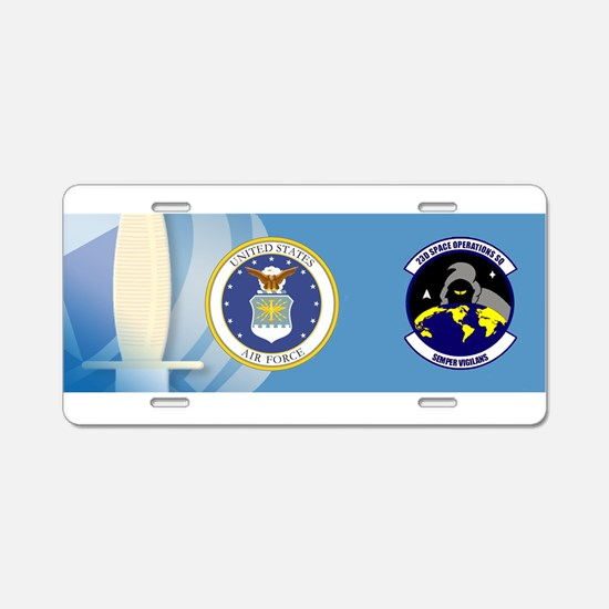 23rd Space Ops Sqdn Aluminum License Plate