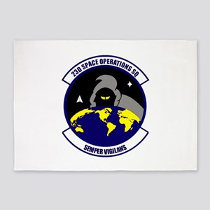 23rd Space Ops Sqdn 5'x7'Area Rug