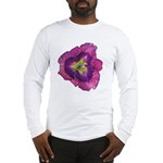 Lavender Eye Daylily Long Sleeve T-Shirt