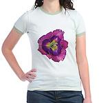 Lavender Eye Daylily Jr. Ringer T-Shirt