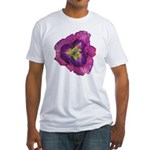 Lavender Eye Daylily Fitted T-Shirt
