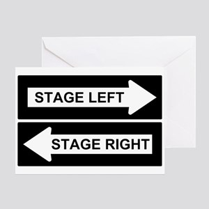 Stage Left Greeting Card