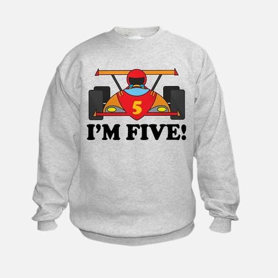 Racing Car 5th Birthday Sweatshirt