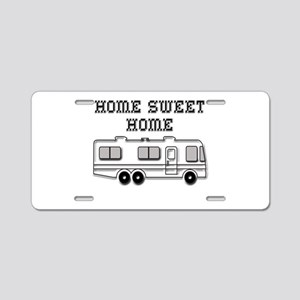 Home Sweet Home Motorhome Aluminum License Plate