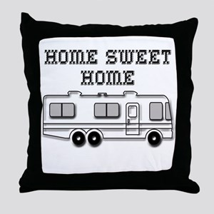 Home Sweet Home Motorhome Throw Pillow