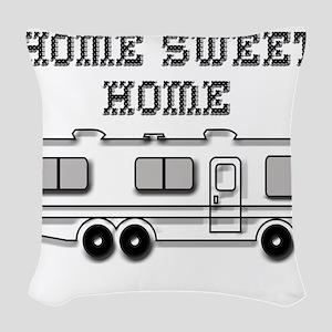 Home Sweet Home Motorhome Woven Throw Pillow