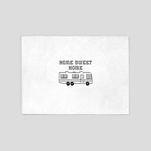 Home Sweet Home Motorhome 5'x7'Area Rug