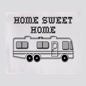 Home Sweet Home Motorhome Throw Blanket