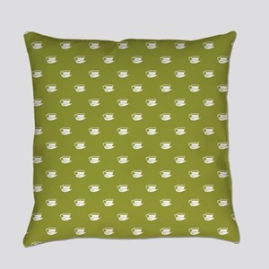 CUPS ON GREEN Everyday Pillow