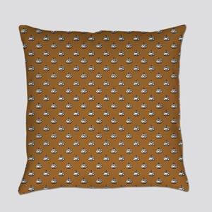 CUPS ON BROWN Everyday Pillow