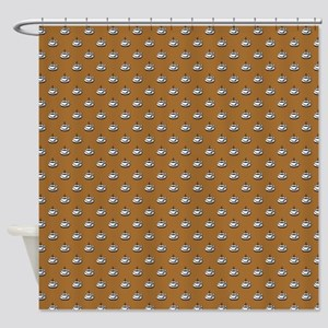 CUPS ON BROWN Shower Curtain