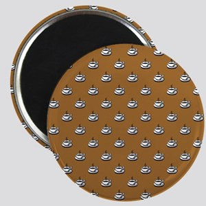 CUPS ON BROWN Magnets