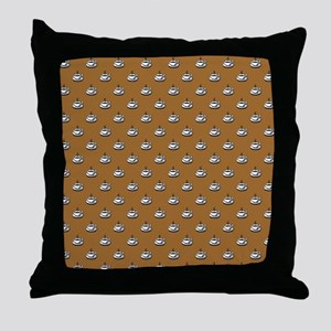 CUPS ON BROWN Throw Pillow