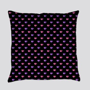 CUPS ON BLACK Everyday Pillow