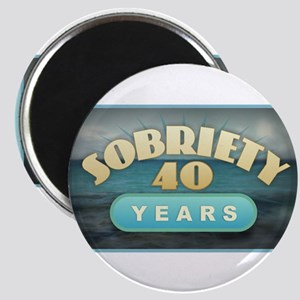 Sober 40 Years - Alcoholics Magnets