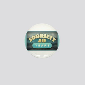 Sober 40 Years - Alcoholics Mini Button