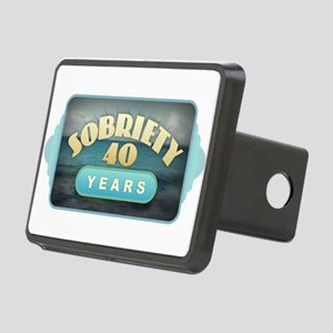 Sober 40 Years - Alcoholic Rectangular Hitch Cover