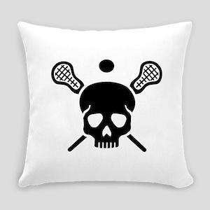 Lacrosse skull Everyday Pillow