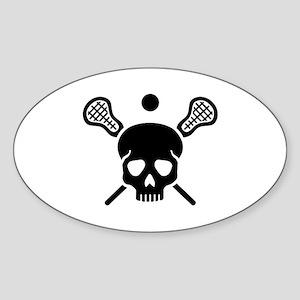 Lacrosse skull Sticker