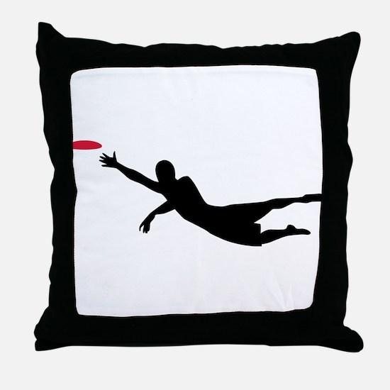 Disc golf frisbee Throw Pillow