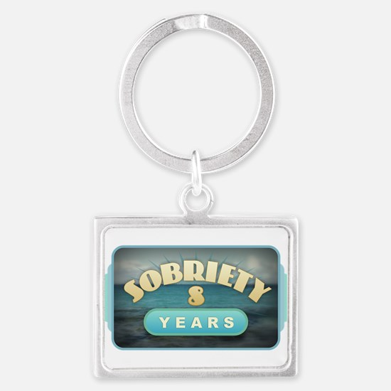 Sober 8 Years - Alcoholics Keychains