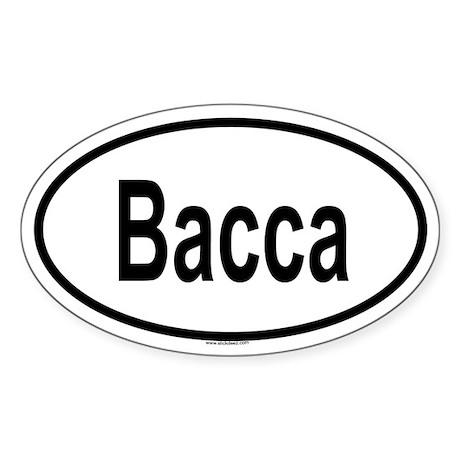 BACCA Oval Sticker