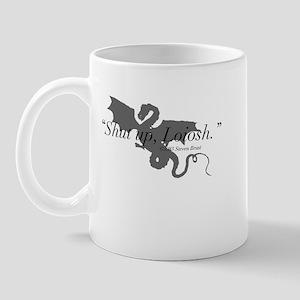 """Shut up, Loiosh"" Klava Mug w/Silhouette"