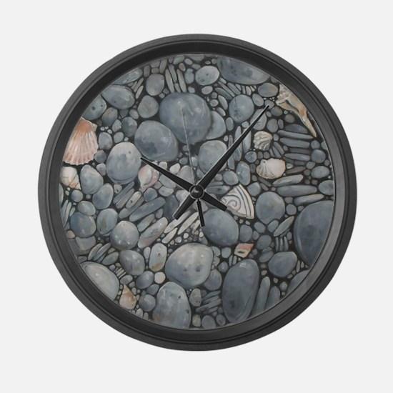Beach Stones Pebbles Rocks Large Wall Clock