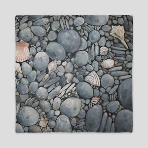 Beach Stones Pebbles Rocks Queen Duvet