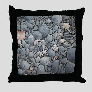 Beach Stones Pebbles Rocks Throw Pillow