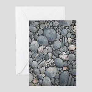 Beach Stones Pebbles Rocks Greeting Cards