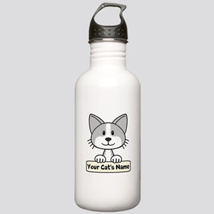 Personalized Gray/Whit Stainless Water Bottle 1.0L