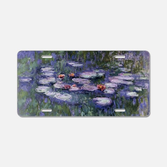 Cute Water lilies Aluminum License Plate