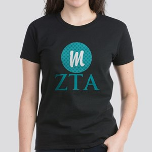 Zeta Tau Alpha Monogram Women's Dark T-Shirt