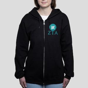 Zeta Tau Alpha Monogram Women's Zip Sweatshirt