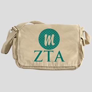 Zeta Tau Alpha Monogram Messenger Bag