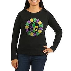 Mardi Gras Fleur De Lis Beads Long Sleeve T-Shirt