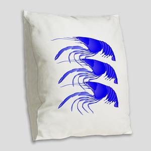 SHRIMP Burlap Throw Pillow