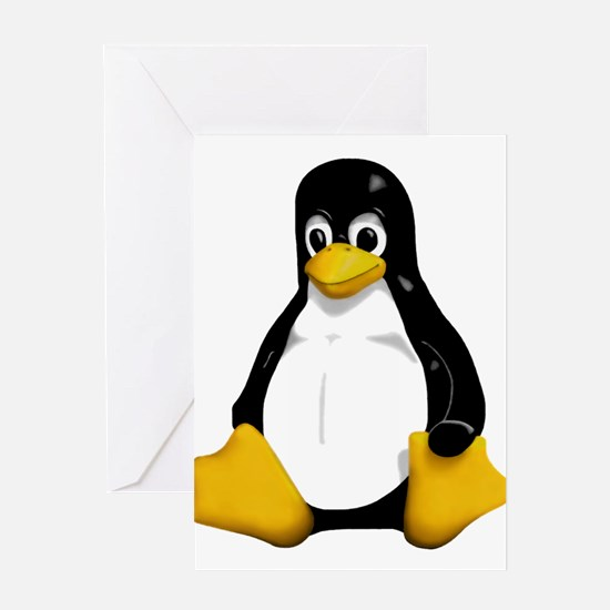 Tux the Penguin Greeting Card