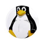 """Tux the Penguin 3.5"""" Button (100 pack)"""